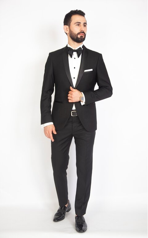 Černý pánský smoking Slim Fit, model William
