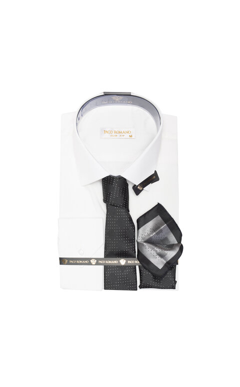 Pánská košile s dlouhým rukávem - perlově bílá
