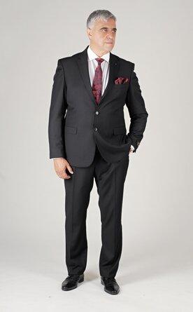 Černý pánský oblek Regular Fit, model James