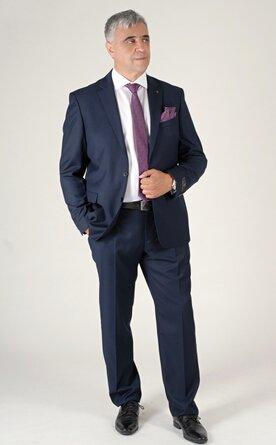 Modrý pánský oblek Regular Fit, model Hugo