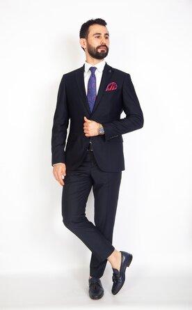Modrý pánský oblek Slim Fit, model Gabriel