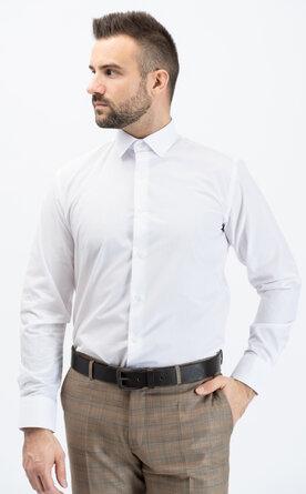 Pánská košile s dlouhým rukávem - čistě bílá