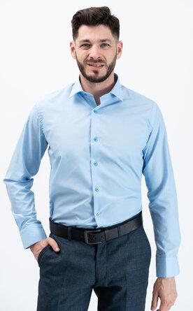 Pánská košile s dlouhým rukávem - světle modrá
