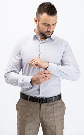 Pánská košile s dlouhým rukávem - světle šedá