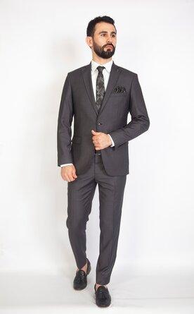 Šedý pánský oblek Slim Fit, model Samuel